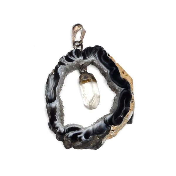 Oco Pendant with Quartz All Crystal Jewelry agate