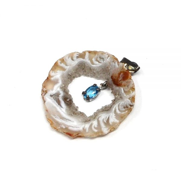 Oco Pendant with Topaz All Crystal Jewelry agate
