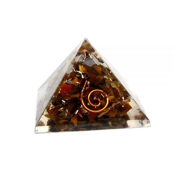 Tiger Eye Orgonite Pyramid Accessories copper