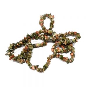 Unakite Chip Bead Strand Crystal Jewelry beads