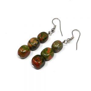 Unakite Earrings Crystal Jewelry crystal earrings