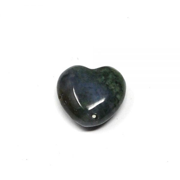 Moss Agate Puffy Heart All Polished Crystals agate