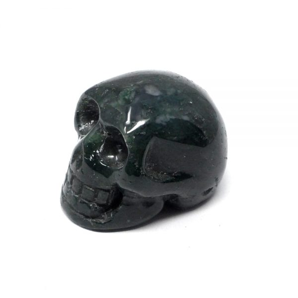 Moss Agate Skull All Polished Crystals agate