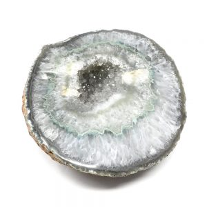 Prasiolite Geode All Raw Crystals cluster