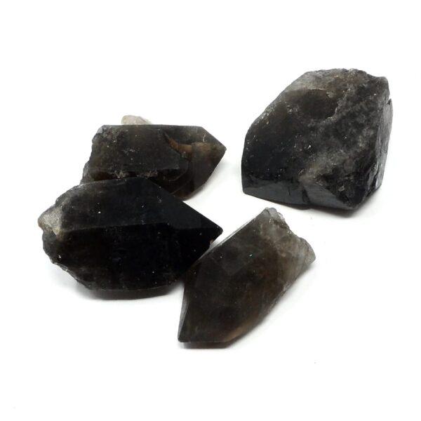 Smoky Quartz Points lg 8oz All Raw Crystals bulk smoky quartz