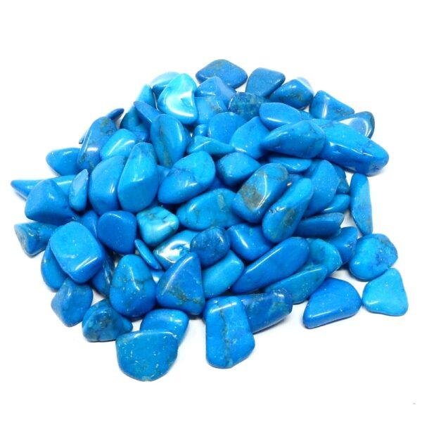 Blue Howlite tumbled sm 8oz All Tumbled Stones blue howlite