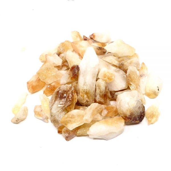 Commercial Citrine 16oz All Raw Crystals bulk citrine points