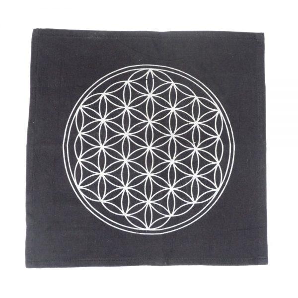 Flower of Life Grid Cloth Accessories black grid cloth