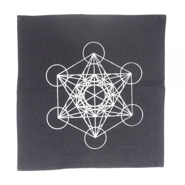 Metatron's Cube Grid Cloth Accessories beige grid cloth