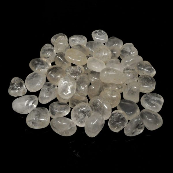 Clear Quartz sm 16oz tumbled All Tumbled Stones bulk quartz