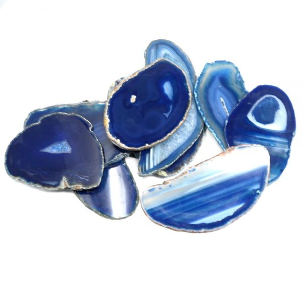 Agate Slabs, Blue, pack of 10 size 2 Agate Products agate