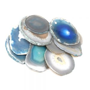 Agate Slabs, Teal, pack of 10 size 2 Agate Products agate