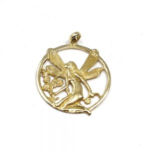 Brass Fairy Pendant All Crystal Jewelry brass