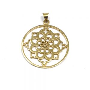 Brass Flower Pendant All Crystal Jewelry brass