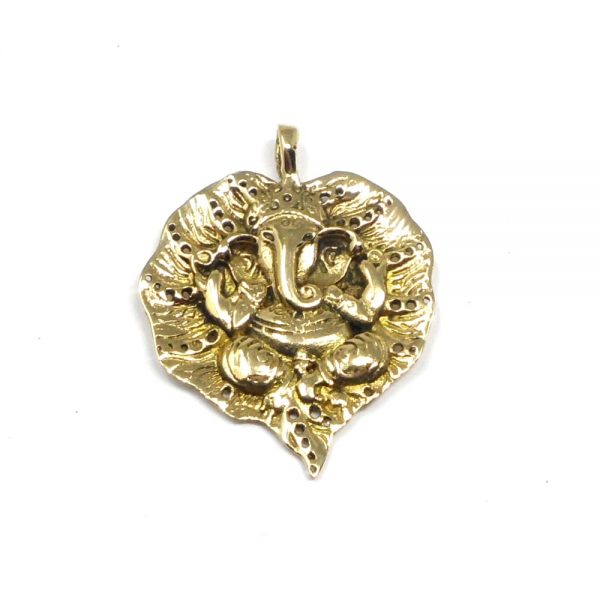 Brass Ganesh Pendant All Crystal Jewelry brass