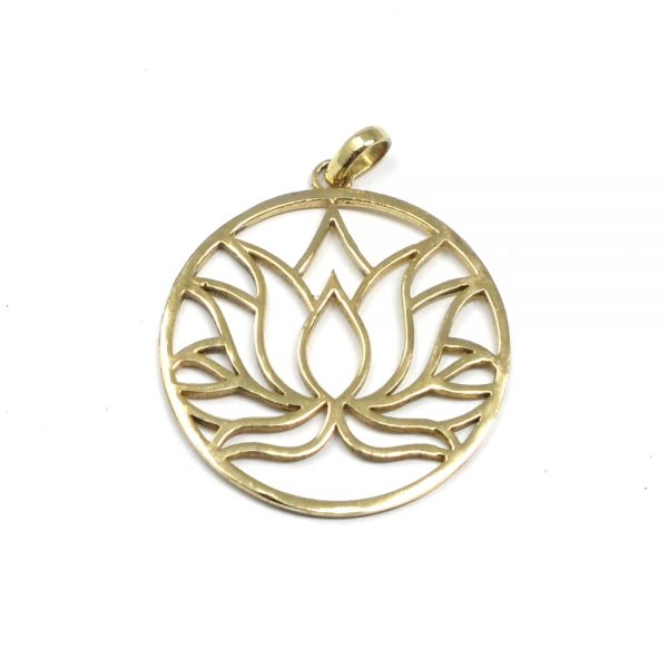 Brass Lotus Pendant All Crystal Jewelry brass