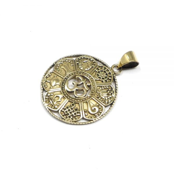Brass Ohm Pendant All Crystal Jewelry brass