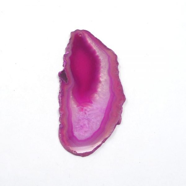 Pink Agate Slab Drilled Agate Products agate
