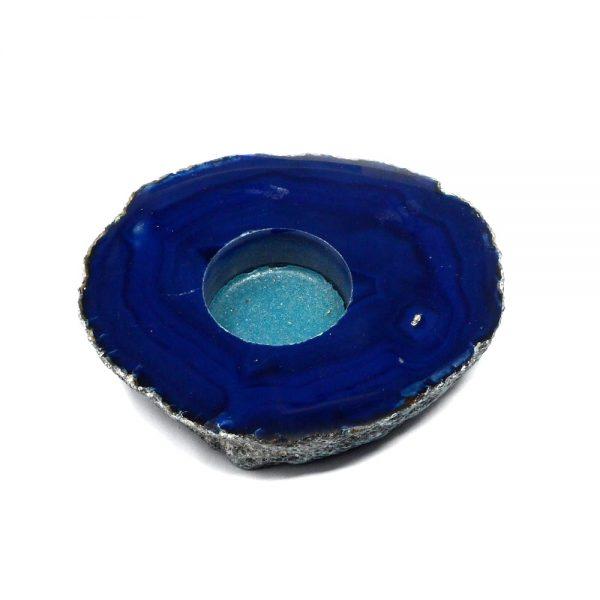 Blue Agate Candleholder Agate Candleholders agate