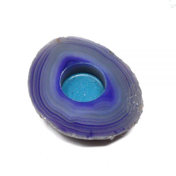 Purple Agate Candleholder Agate Candleholders agate