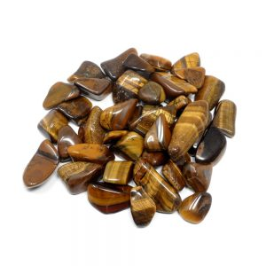 Tiger Eye lg tumbled 16oz All Tumbled Stones bulk crystals