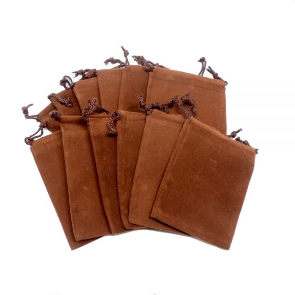 Brown Pouch Medium 12 pack Accessories brown crystal pouch