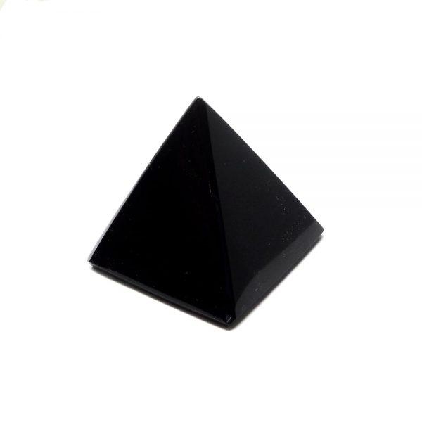 Black Obsidian Pyramid All Polished Crystals black obsidian