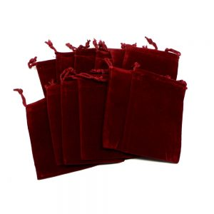 Red Pouch Medium 12 pack Accessories bulk crystal pouches