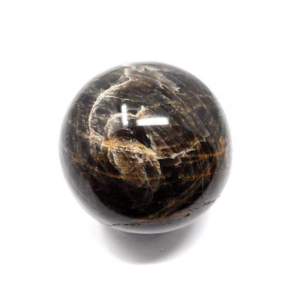 Black Moonstone Sphere 70mm All Polished Crystals black moonstone