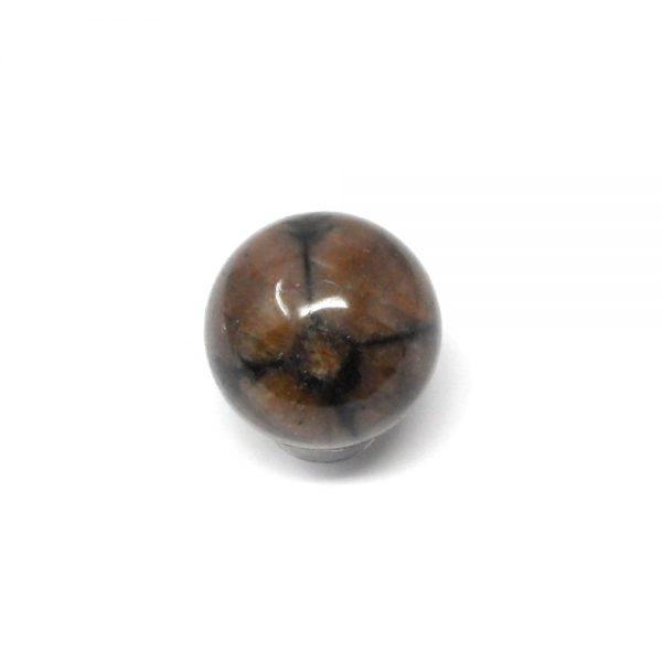 Chiastolite Sphere 25 to 30mm All Polished Crystals chiastolite