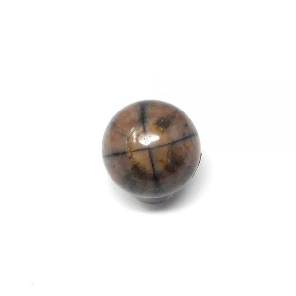 Chiastolite Sphere 25 to 30mm All Polished Crystals chiastolite