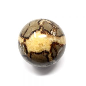 Septarian Sphere 70mm All Polished Crystals calcite sphere
