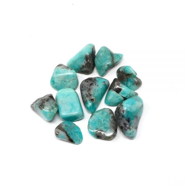 Amazonite md/lg tumbled 4oz All Tumbled Stones amazonite