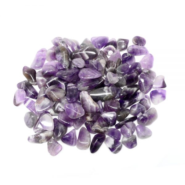 Banded Amethyst md tumbled 16oz All Tumbled Stones amethyst