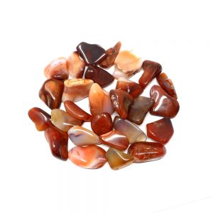 Carnelian Agate lg tumbled 8oz All Tumbled Stones bulk carnelian