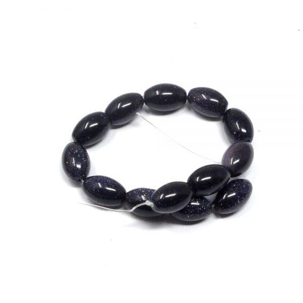 Blue Goldstone Bead Strand All Crystal Jewelry bead