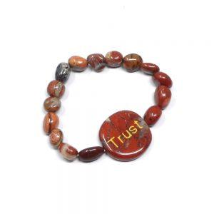 Brecciated Jasper Word Bracelet All Crystal Jewelry bracelet