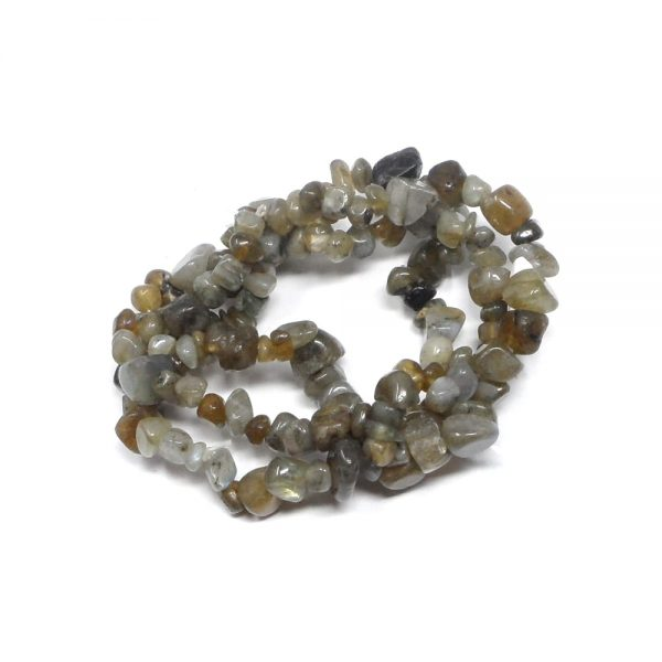 Labradorite Three Strand Chip Bracelet All Crystal Jewelry bracelet