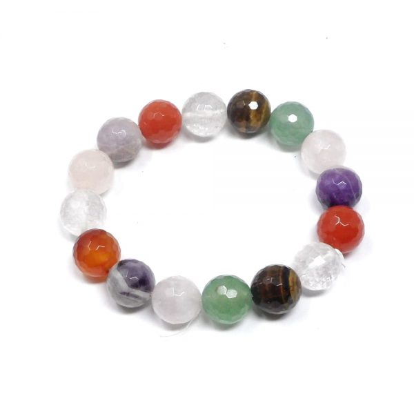 Mixed Faceted Bead Bracelet All Crystal Jewelry amethyst bracelet
