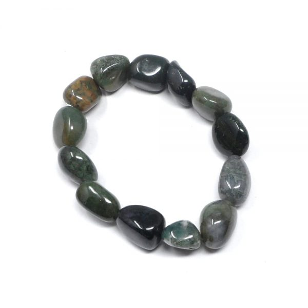 Moss Agate Bracelet All Crystal Jewelry agate bracelet