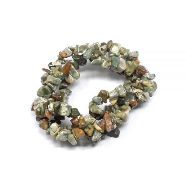 Rhyolite Three Strand Chip Bracelet All Crystal Jewelry bracelet