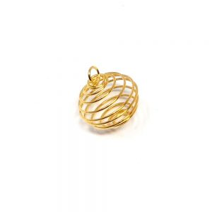 Wire Cage Gold Rounded All Crystal Jewelry cage