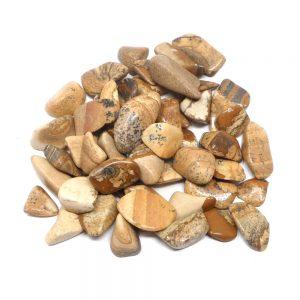 Picture Jasper tumbled sm/md 8oz All Tumbled Stones bulk crystals
