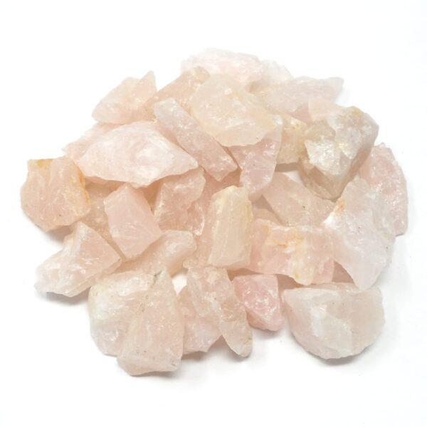 Rose Quartz sm raw 16oz All Raw Crystals bulk rose quartz