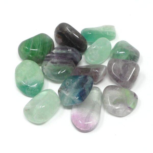 Fluorite sm tumbled 8oz All Tumbled Stones bulk fluorite