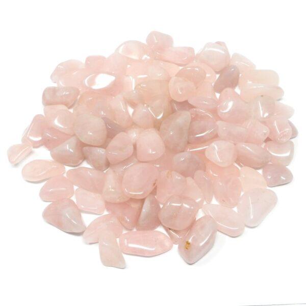 Rose Quartz sm tumbled 16oz All Tumbled Stones bulk pink quartz
